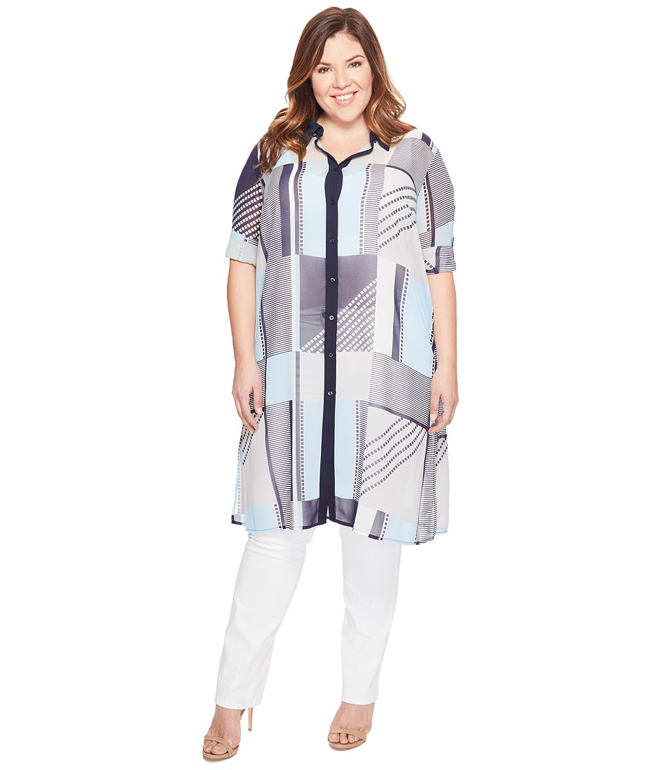 Calvin Klein Plus Calvin Klein Plus - Plus Size Long Printed Tunic