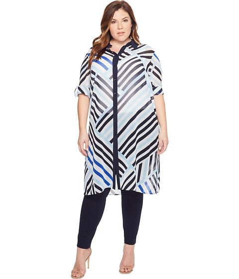 Calvin Klein Plus Plus Size Long Printed Tunic