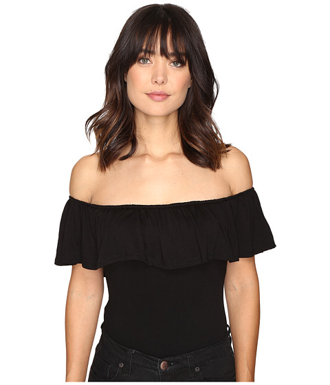 Brigitte Bailey Julie Ruffled Bodysuit - Black