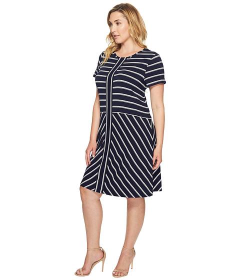 Calvin Klein Plus Plus Size Short Sleeve Striped T-Shirt Dress ...