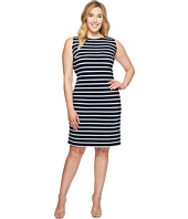 Calvin Klein Plus - Plus Size Sleeveless Textured Stripe Dress