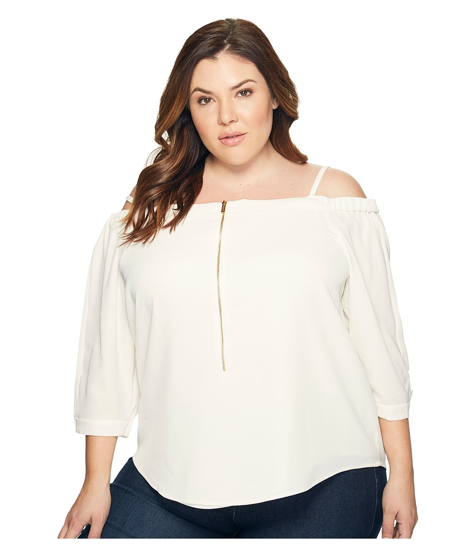 Calvin Klein Plus Calvin Klein Plus - Plus Size Off the Shoulder Top with Zipper