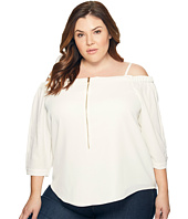 Calvin Klein Plus - Plus Size Off the Shoulder Top with Zipper