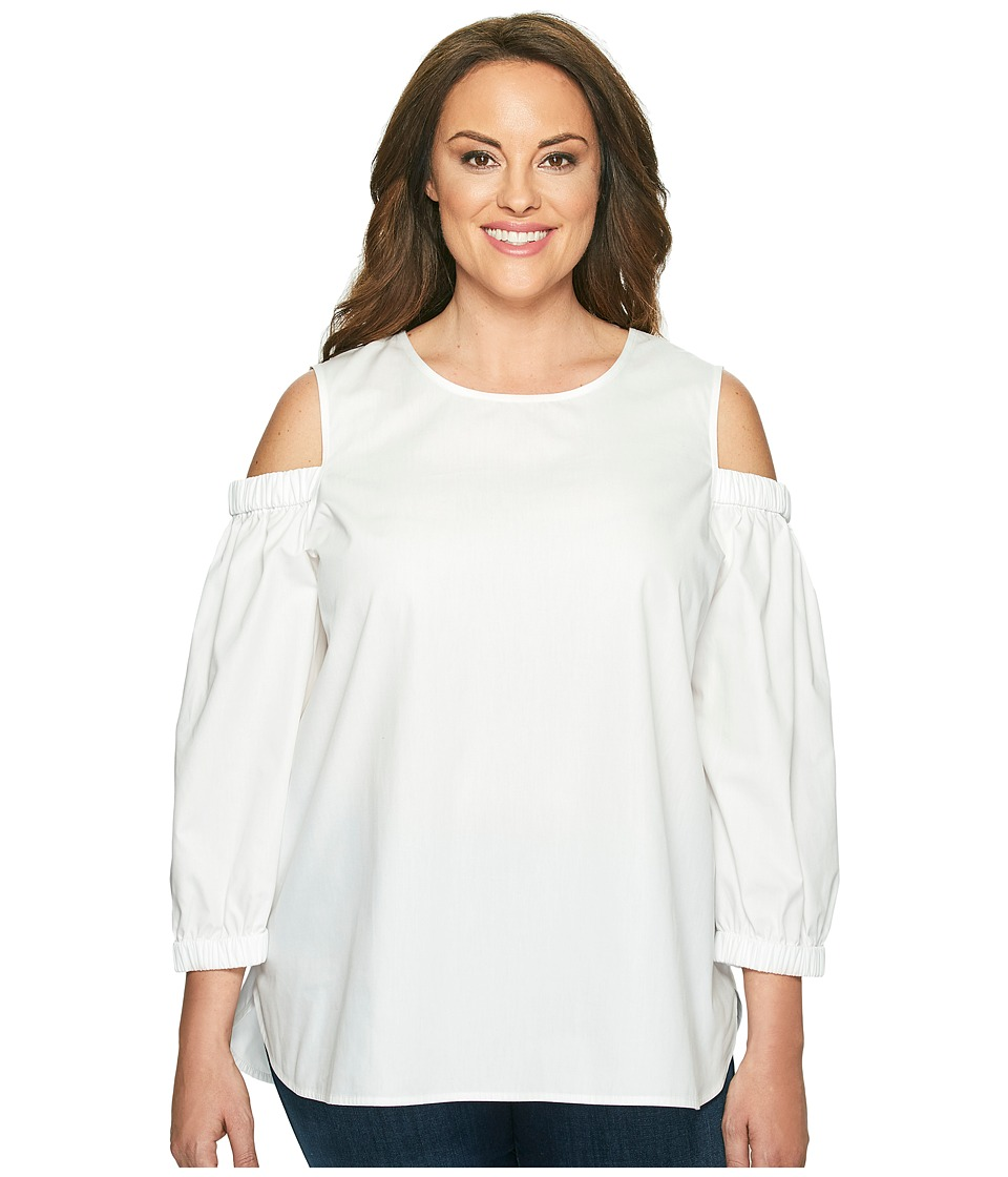Calvin Klein Plus Calvin Klein Plus - Plus Size 3/4 Sleeve Cold Shoulder Top