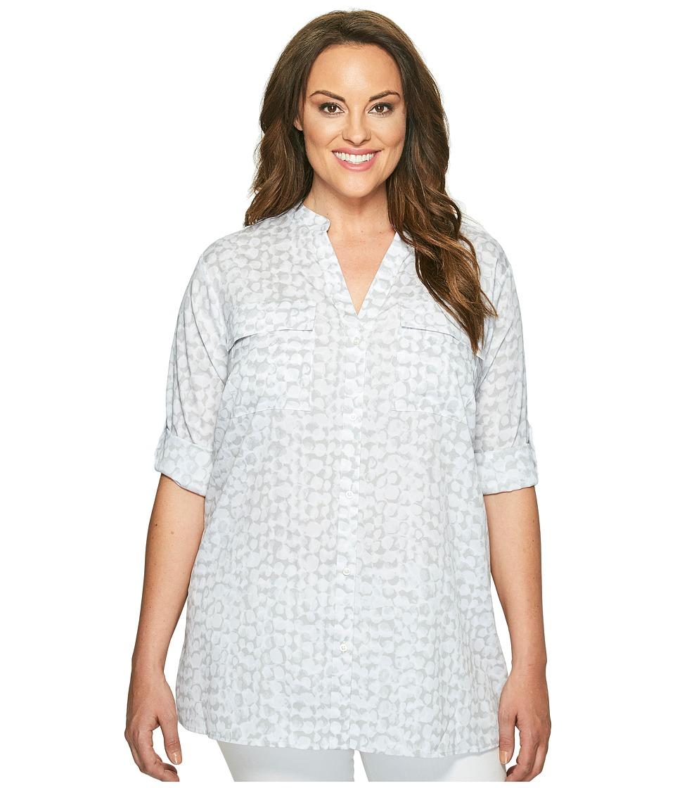 Calvin Klein Plus - Plus Size Printed Roll Sleeve