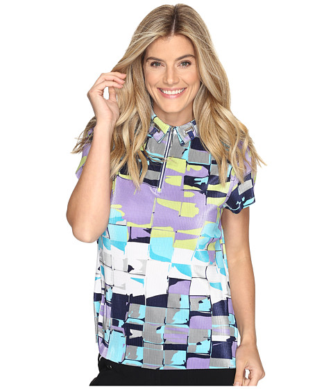 Jamie Sadock Digi Box Print Short Sleeve Top