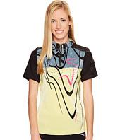 Jamie Sadock - Crunchy Seaweed Print Mid Short Sleeve Top