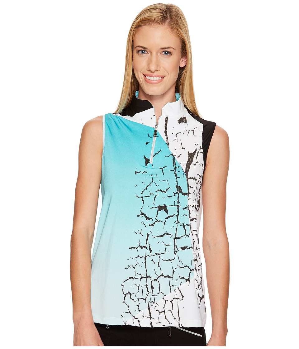 Jamie Sadock Jamie Sadock - Crackle Print Sleeveless Top