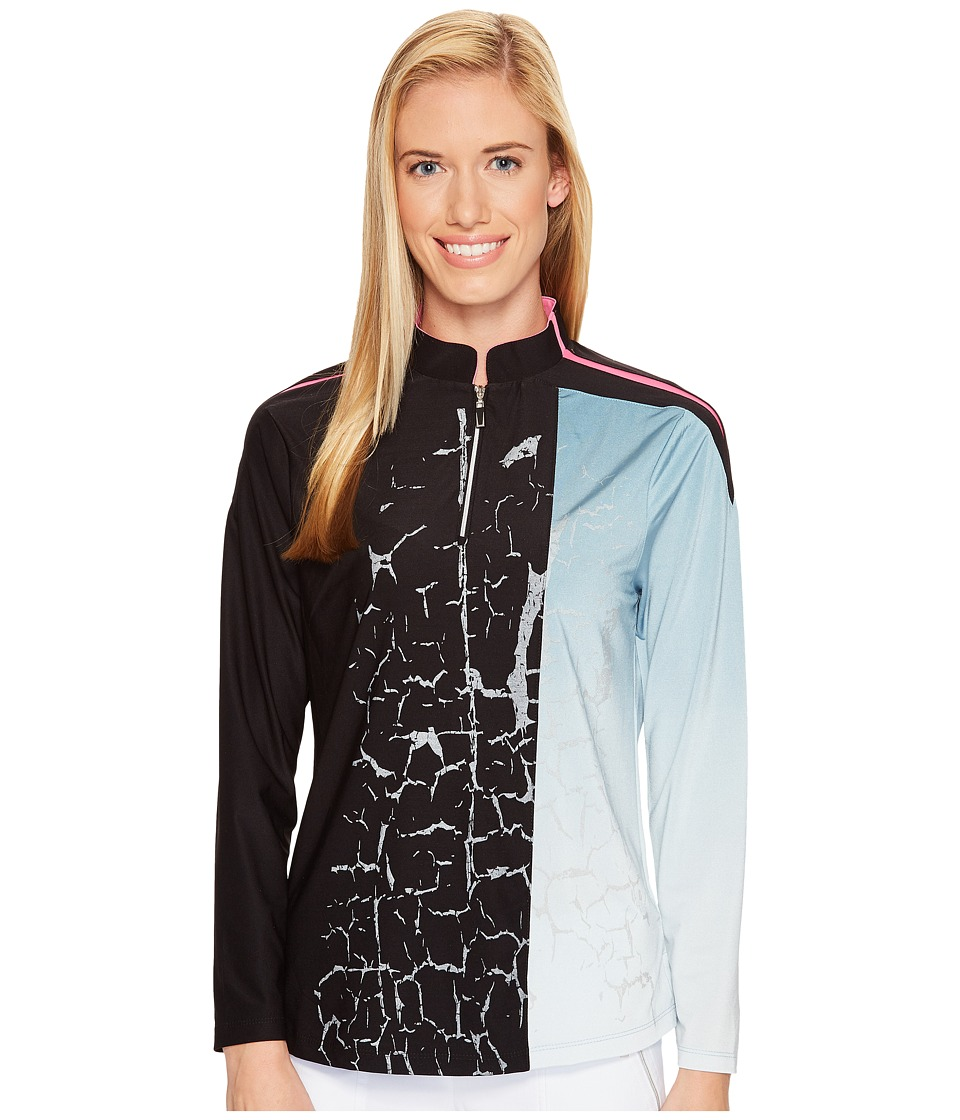 Jamie Sadock Jamie Sadock - Crackle Print Long Sleeve Top