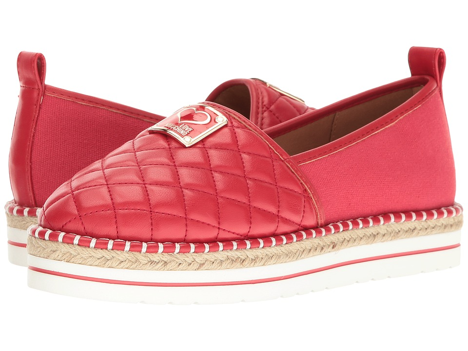 LOVE Moschino Superquilted Espadrille (Red) Women