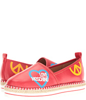LOVE Moschino - Cut Out Logo Espadrille