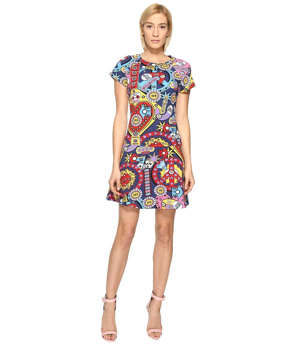 LOVE Moschino Drop Waist Dress (Multi) Women