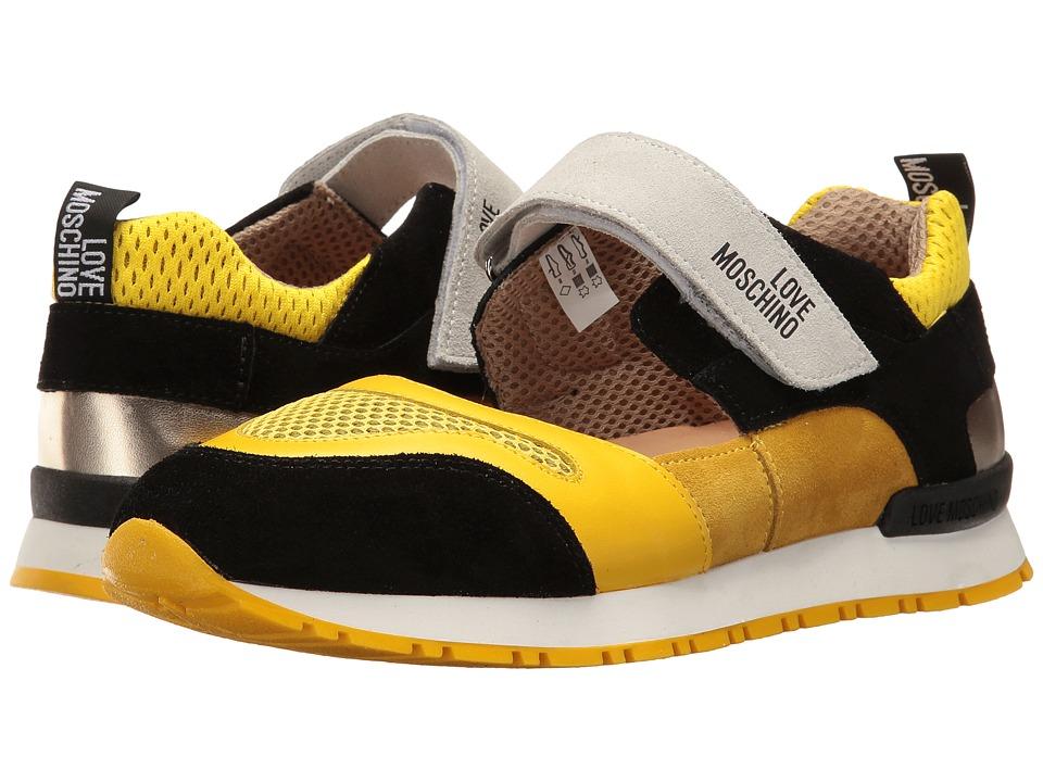 LOVE Moschino Sneaker Mania 1 Mary Jane (Yellow Multi) Women