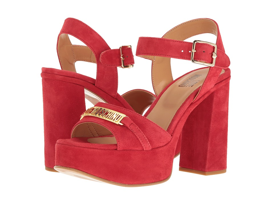 LOVE Moschino Horse Bit Heel (Red) High Heels
