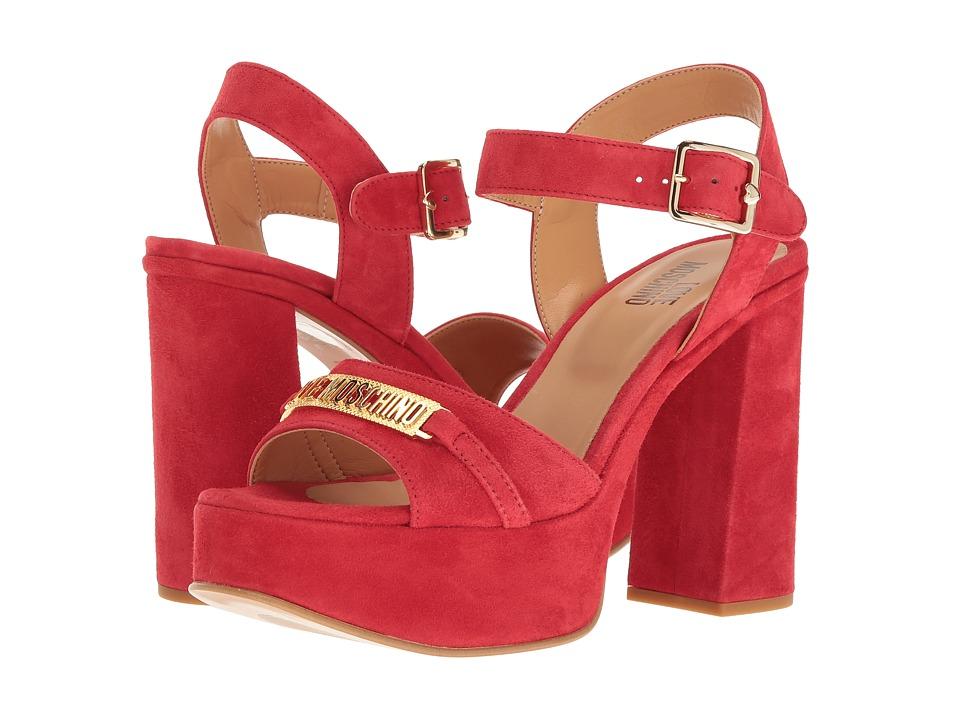 LOVE Moschino Horse Bit Heel (Red) High Heels