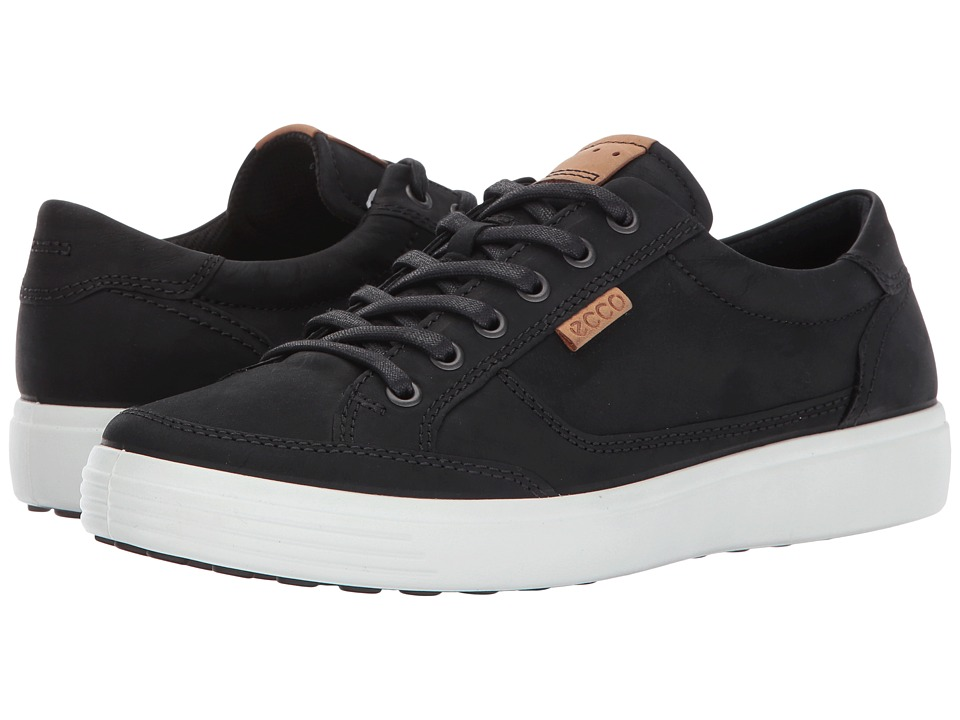ECCO Soft Retro Sneaker (Black) Men