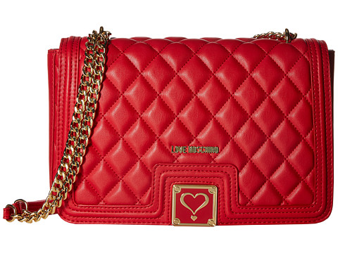 LOVE Moschino Superquilted Crossbody - Red