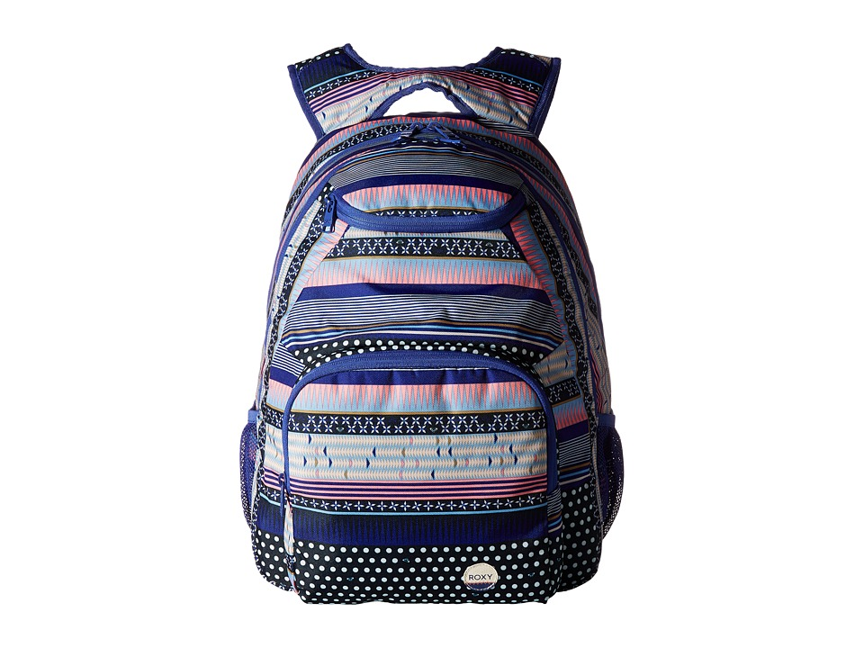 Roxy Shadow Swell Printed Backpack (Dress Blues Small Wintery Geo) Backpack Bags