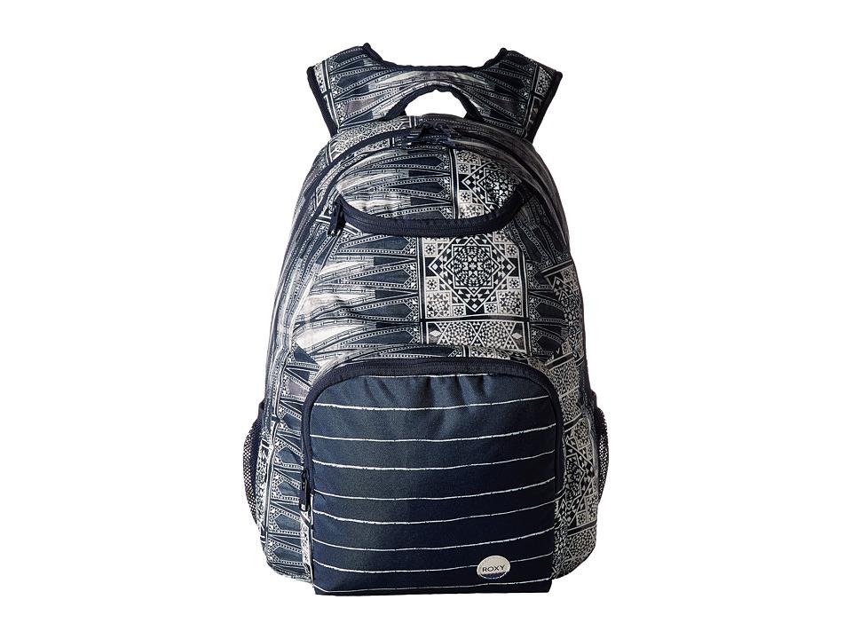 Roxy Shadow Swell Printed Backpack (Dress Blues Chief Prado) Backpack Bags