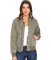 Hudson - Gene Puffy Bomber in Loden Green Destructed