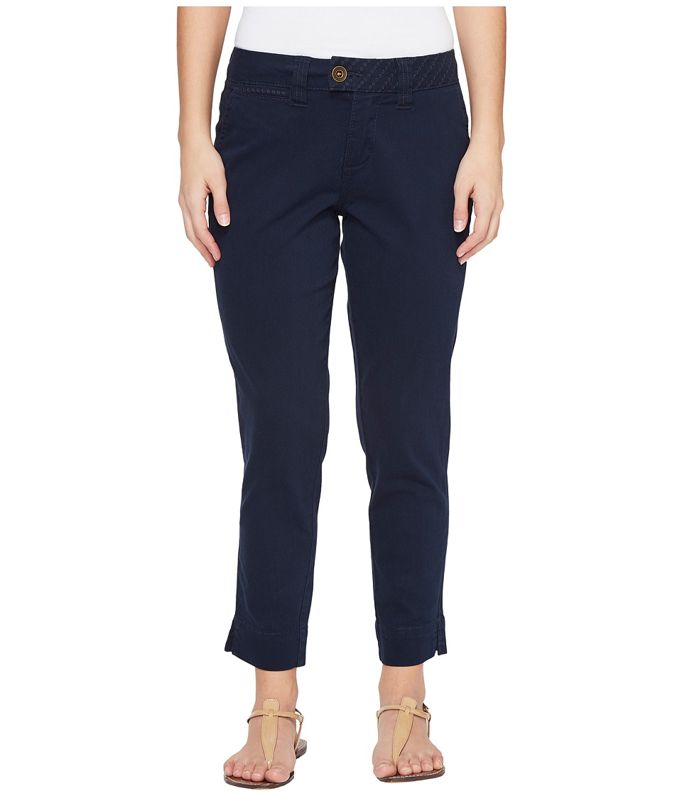 Jag Jeans Petite Petite Creston Ankle Crop in Bay Twill (Nautical Navy) Women