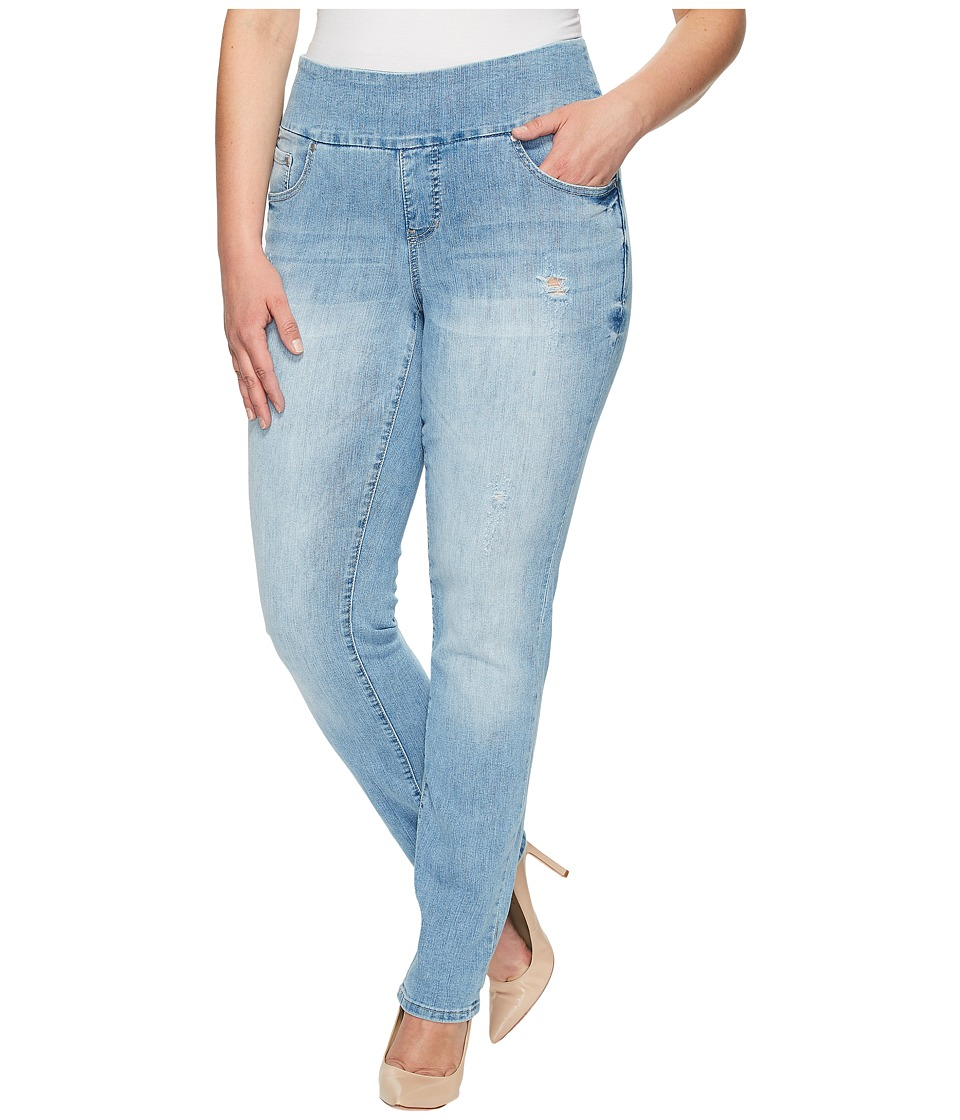 Jag Jeans Plus Size Plus Size Peri Pull-On Straight Comfort Denim in Blue Issue (Blue Issue) Women
