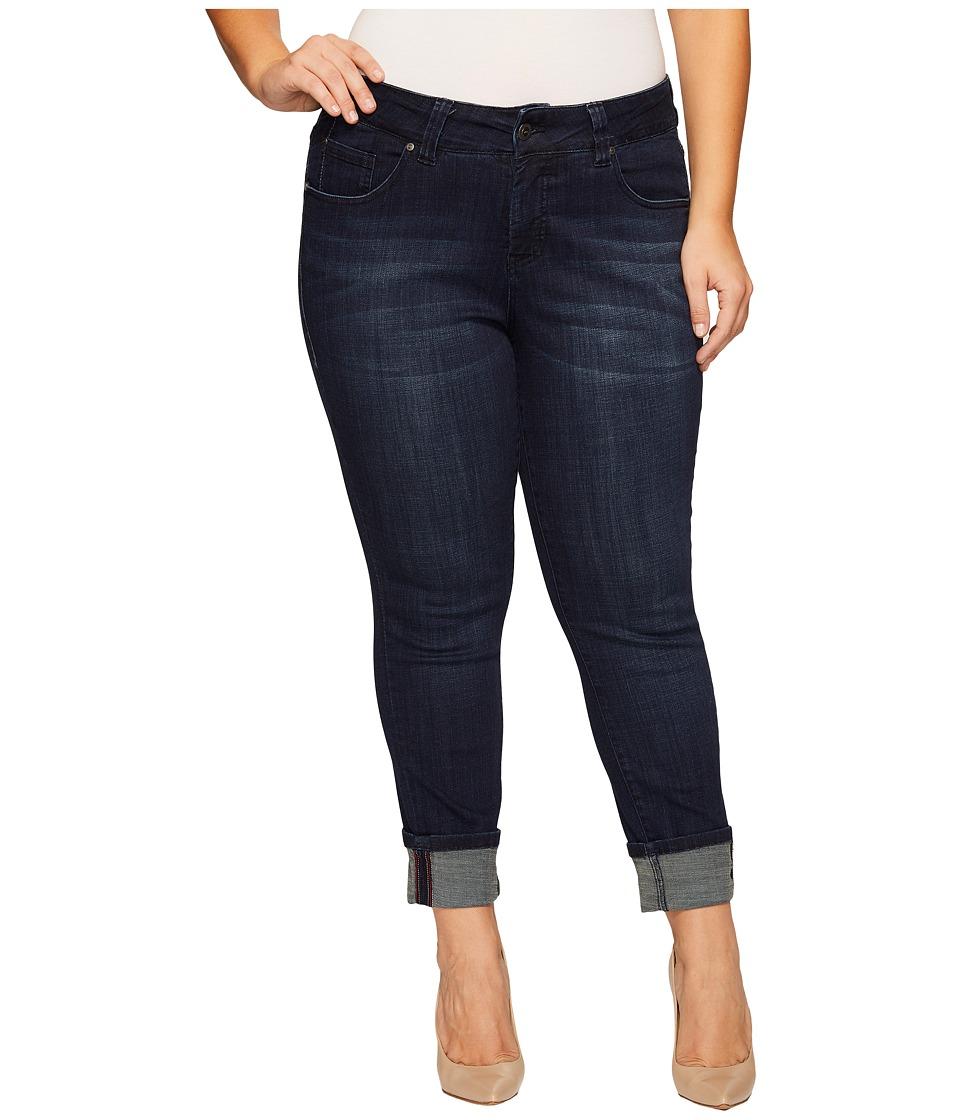 Jag Jeans Plus Size Plus Size Maddie Skinny Cuff Crosshatch Denim in Night Breeze (Night Breeze) Women