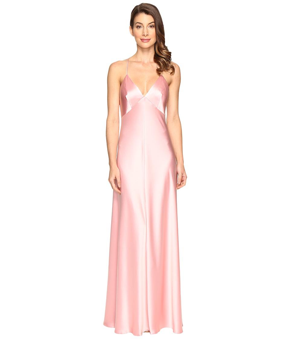 JILL JILL STUART Satin Back Crepe Slip Dress (Peach Blossom) Women