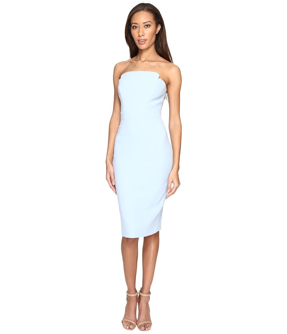 JILL JILL STUART Strapless Knee Length Fitted Crepy Dress (Sky) Women
