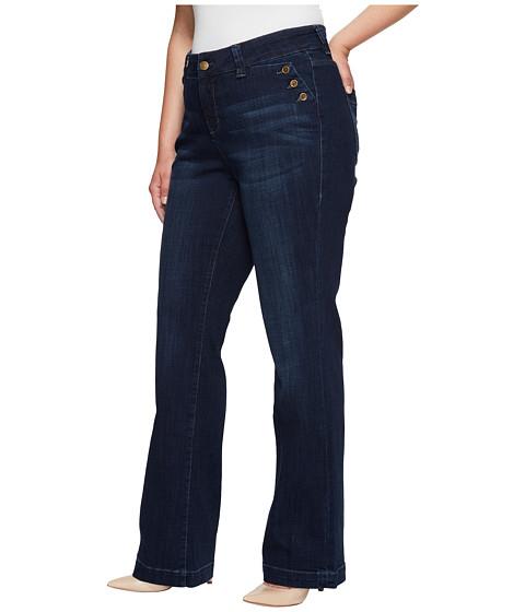 Jag Jeans Plus Size Plus Size Farrah Wide Leg Crosshatch Denim in ...