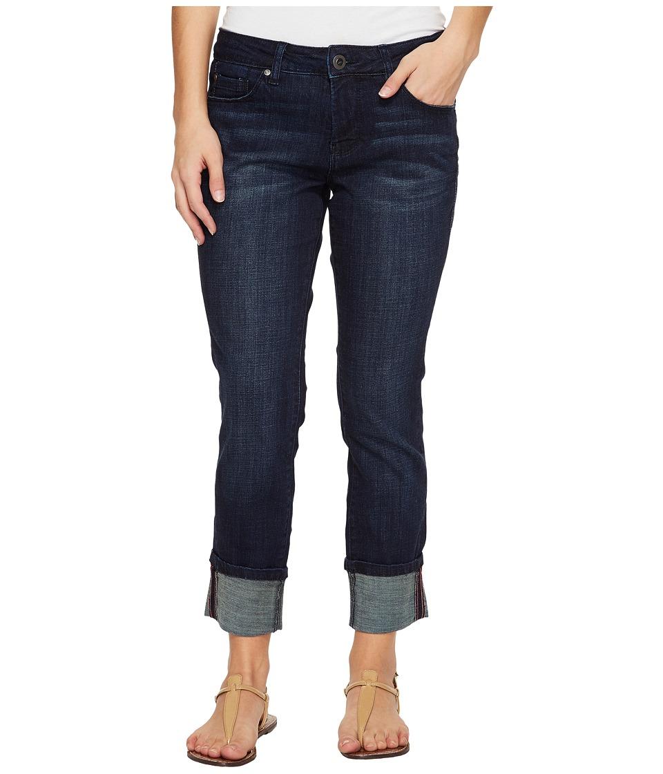 Jag Jeans Petite - Petite Maddie Skinny Cuff in Crosshatch Denim in Night Breeze