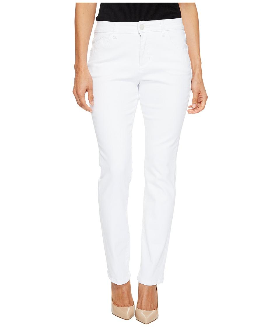 Jag Jeans Petite Petite Portia Straight in White Denim (White) Women