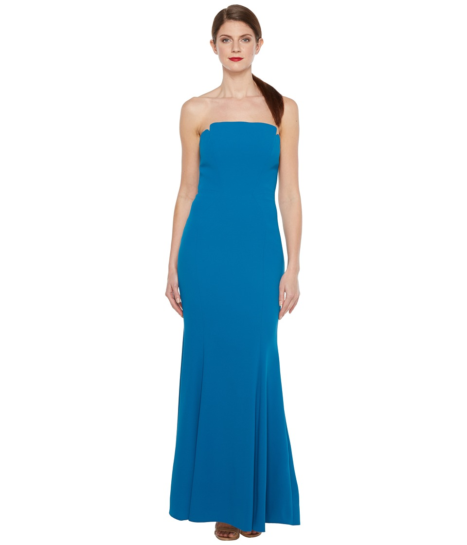 JILL JILL STUART Harlow Strapless Hourglass Gown (Lapis) Women
