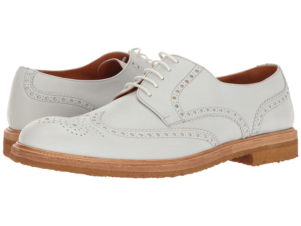 1940s Style Mens Shoes Crosby Square - Emerson White Mens Lace Up Wing Tip Shoes $205.99 AT vintagedancer.com
