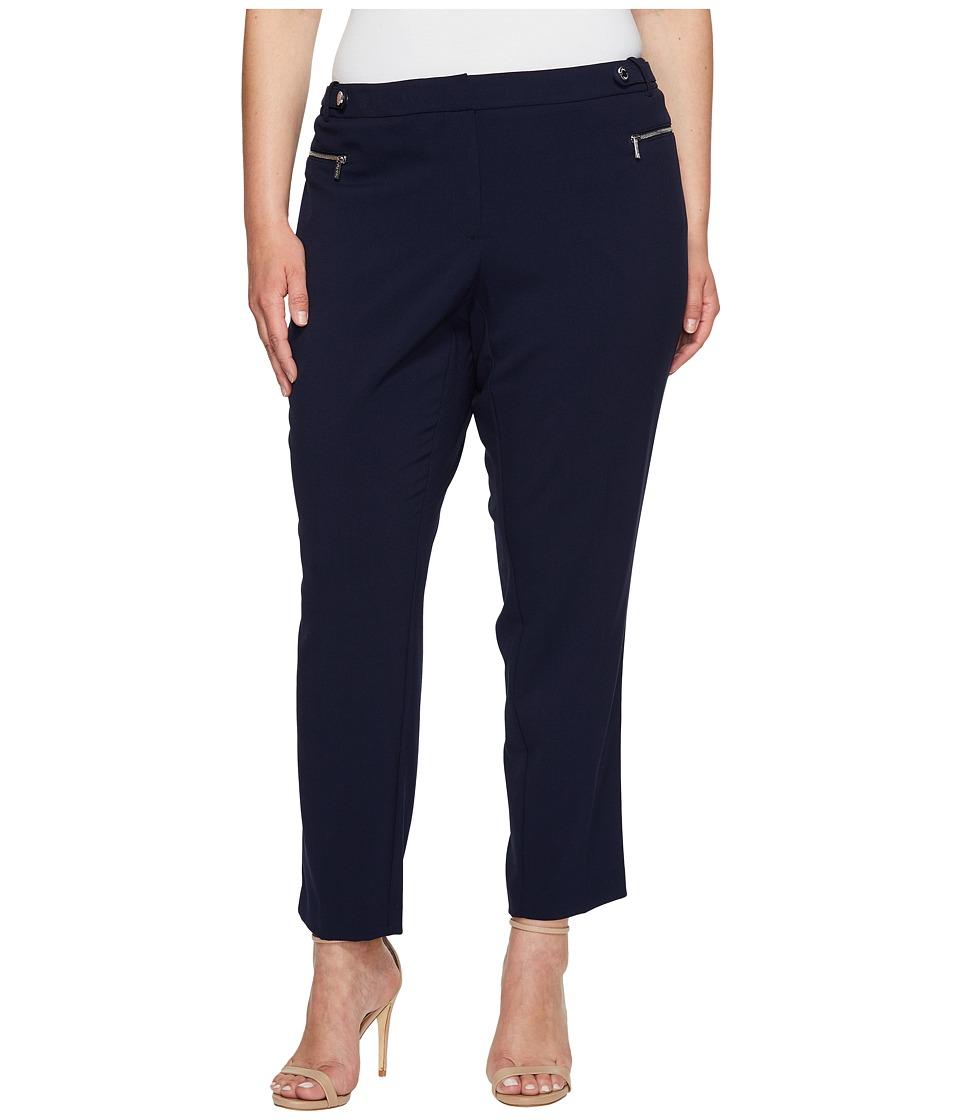 Calvin Klein Plus - Plus Size Straight Pants with Buckle Zip