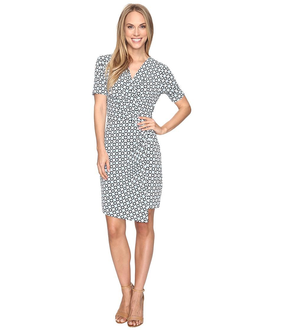 Karen Kane Crossover Drape Dress (Print) Women