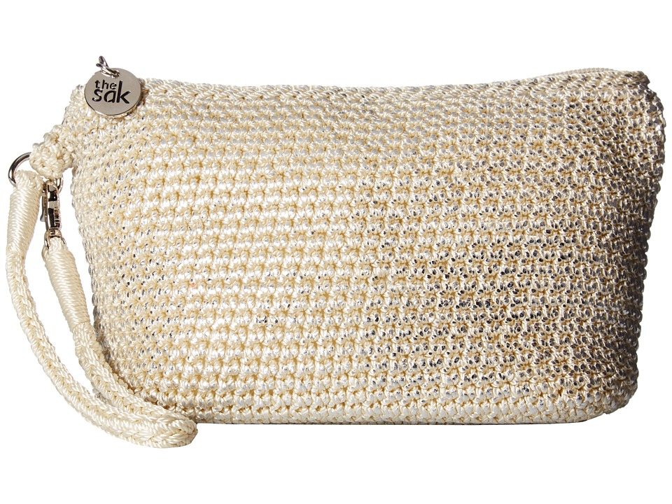 The Sak Palm Spring Cosmetic (Natural Metallic) Cosmetic Case
