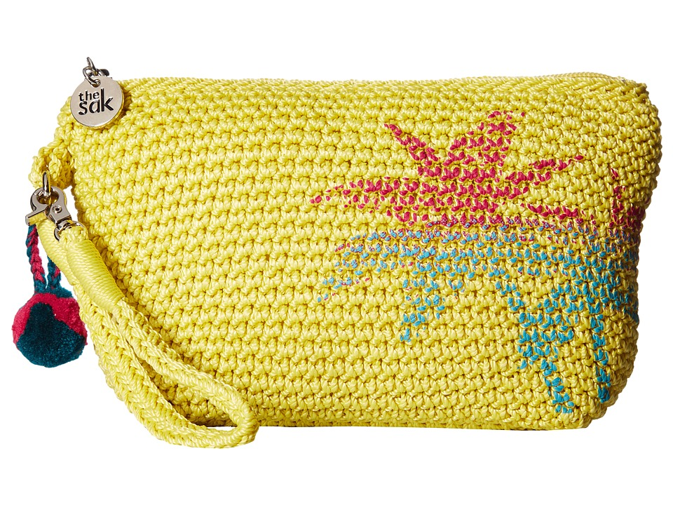 The Sak Palm Spring Cosmetic (Citron Palm) Cosmetic Case