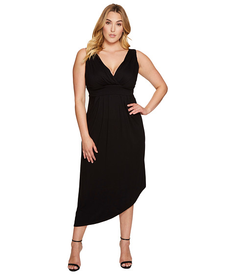 Karen Kane Plus Plus Size Asymmetric Maxi Dress