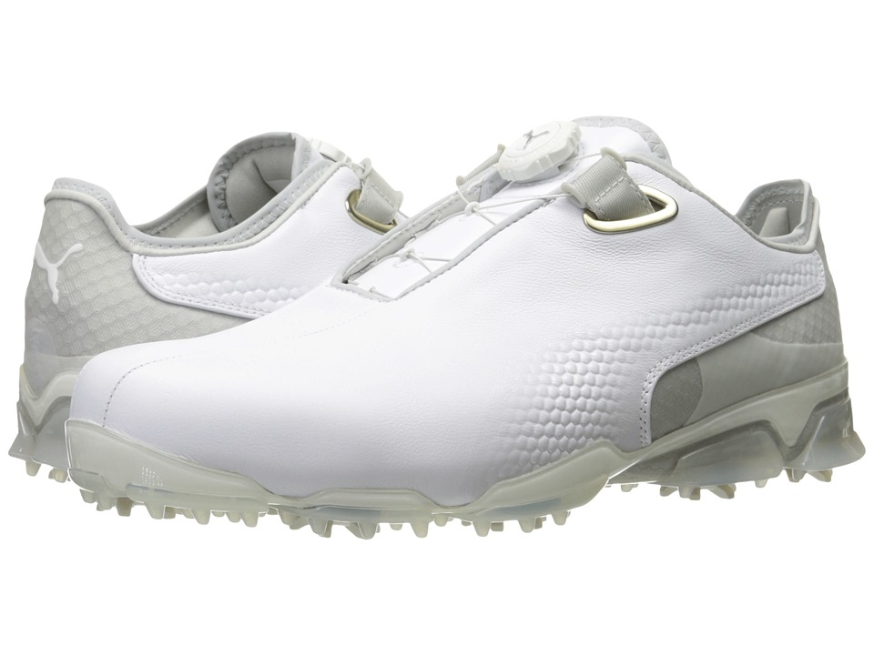 PUMA Golf TT Ignite Premium Disc (Puma White/Gray Violet) Men