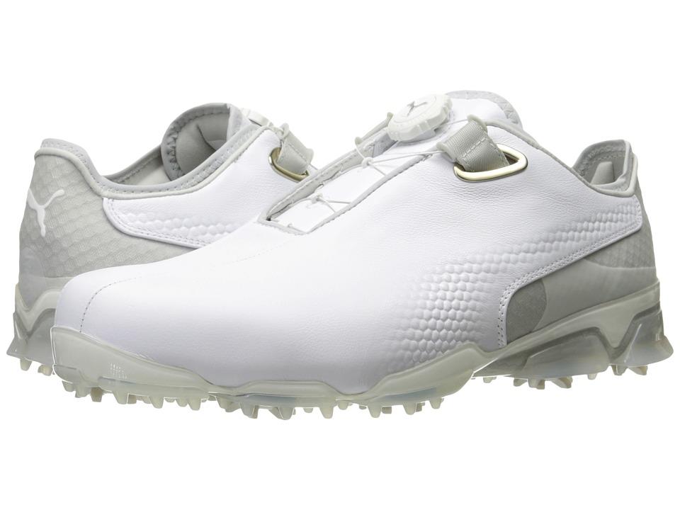 PUMA Golf TT Ignite Premium Disc (Puma White/Gray Violet) Men