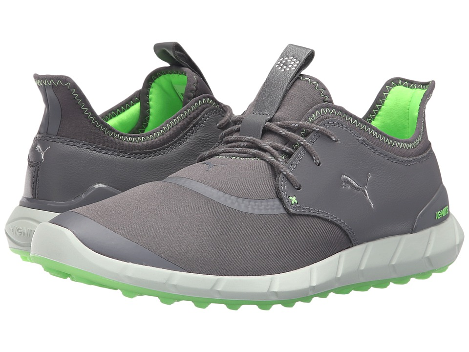 PUMA Golf Ignite Spikeless Sport (Smoked Pearl/Puma Silver/Green Gecko) Men
