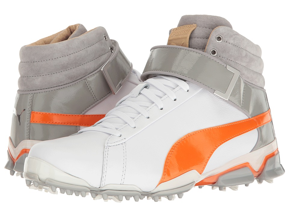 PUMA Golf Titantour Ignite Hi-Top SE (Puma White/Vibrant Orange/Drizzle) Men