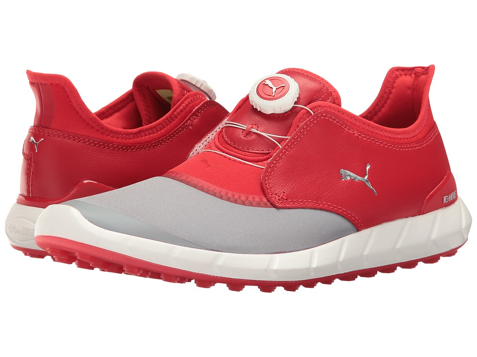 PUMA Golf Ignite Spikeless Sport Disc (Quarry/High Risk Red) Men