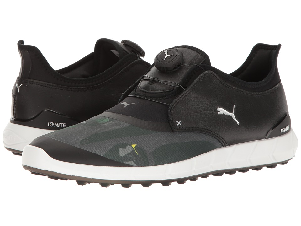 PUMA Golf Ignite Spikeless Sport Disc (Puma Black/Puma Silver/Quiet Shade) Men