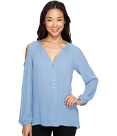 Karen Kane - Cold Shoulder Button Up Top