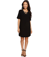 Karen Kane - Lace-Up Shirttail Dress