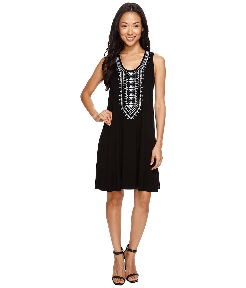 Karen Kane Embroidered Sleeveless Dress (Black) Women