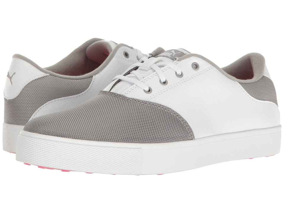 PUMA Golf - Tustin Saddle (Drizzle/Puma White/Knockout Pink) Womens Shoes