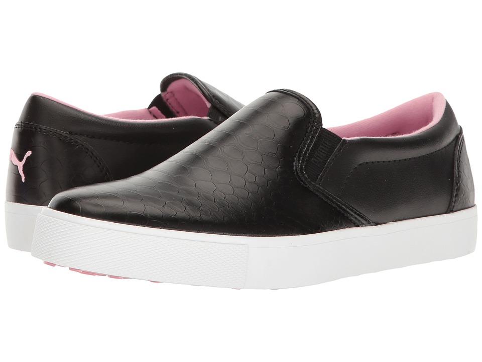 Puma Golf - Tustin Slip-On (Puma Black/Prism Pink) Women'...